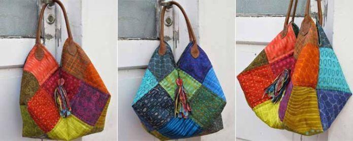 Tutorial bolso patchwork patrones gratis - Patchwork en casa patrones ...