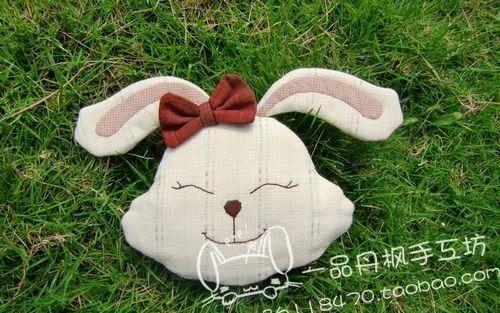 Patrón de cojín conejo feliz - Patrones gratis