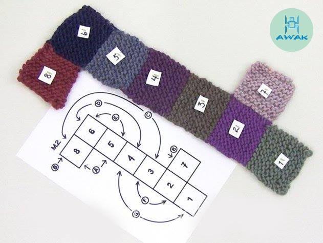 Patron de zpatillas a crochet en cuadrados