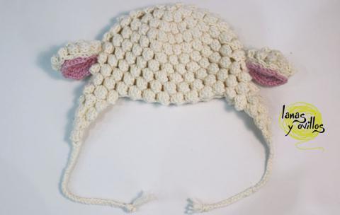 Gorro de oveja, para Bebé - Patrones gratis