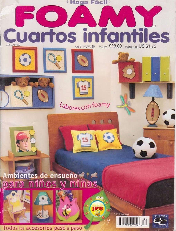 Habitaciones infantiles con Foamy - Patrones gratis