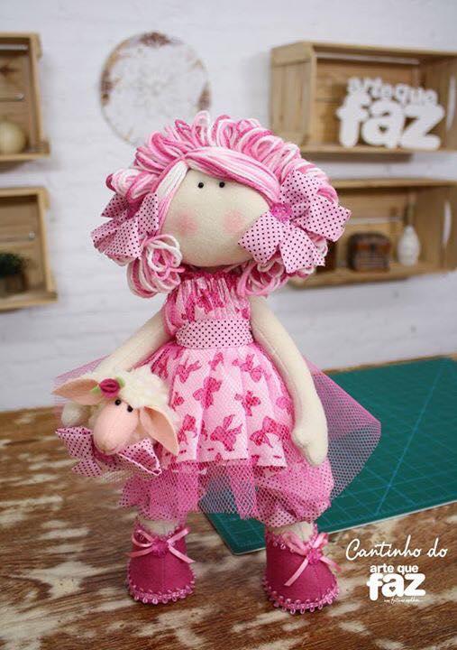 Patrones y tutorial para hacer la Muñeca Julia en tela - Patrones gratis