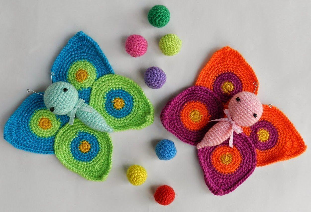 Fantástico Crochet Patrón De Alas De Mariposa Libre Cresta - Ideas ...