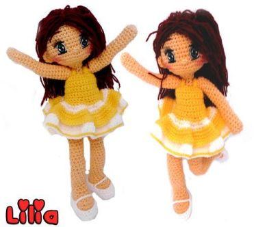 muñeca amigurumi lilia