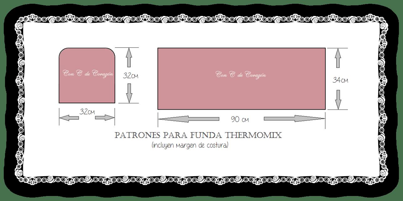 Funda para la thermomix con patrones - Patrones gratis