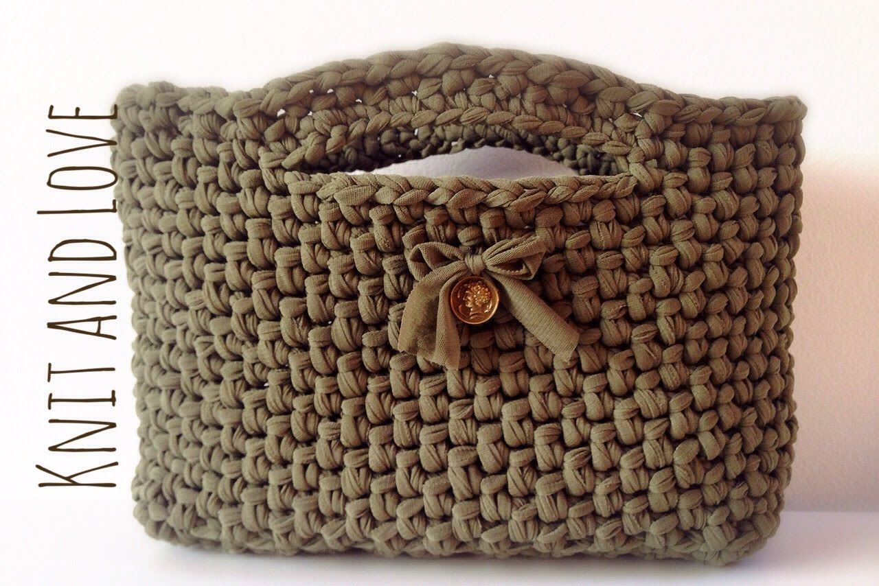 Bolso de fettuccia a crochet - Patrones gratis