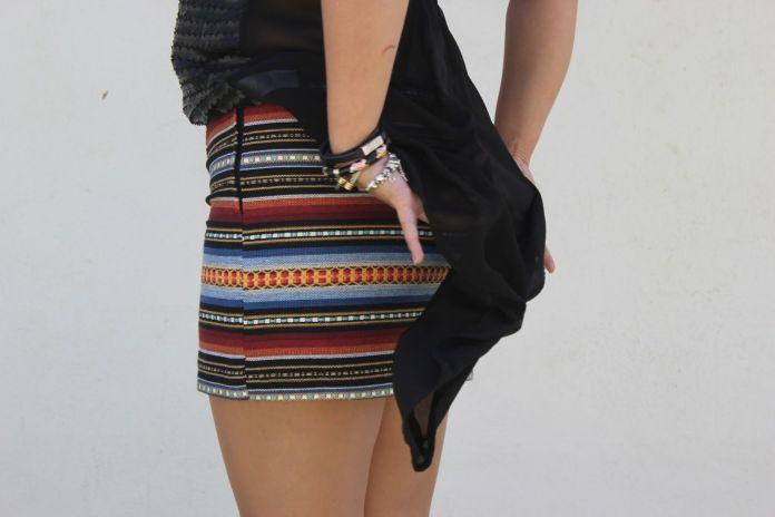 mini falda étnica 2