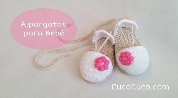 Sandalias a crochet para bebé - Patrones gratis
