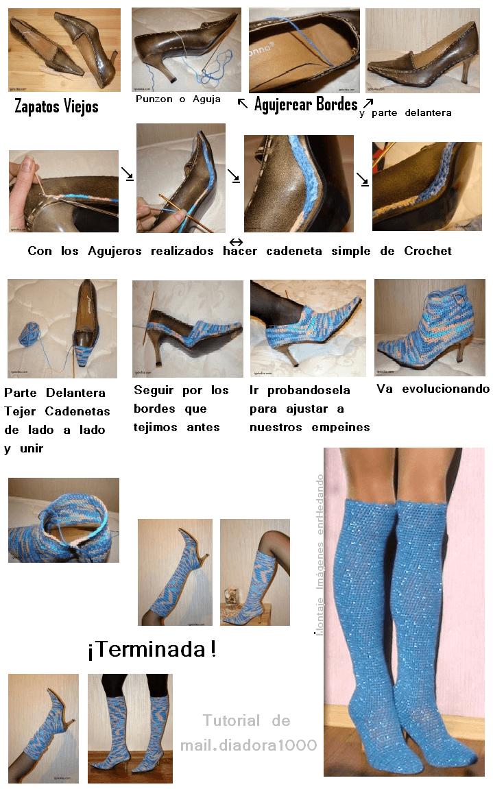 Hermosa Zapatillas De Cocodrilo Patrón De Crochet Libre Bandera ...