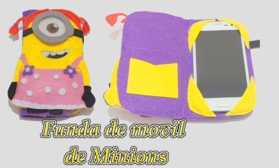 Funda de movil de minion