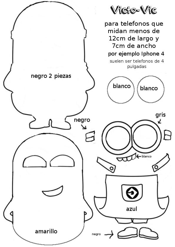 Funda Para El Móvil De Fieltro De Los Minions Patrones Gratis