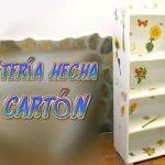Tutorial mueble estantería hecha de cartón