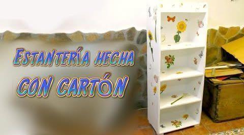 Tutorial mueble estanter a hecha de cart n patrones gratis - Estanteria carton ...