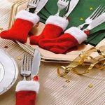 Bota de navidad para cubiertos