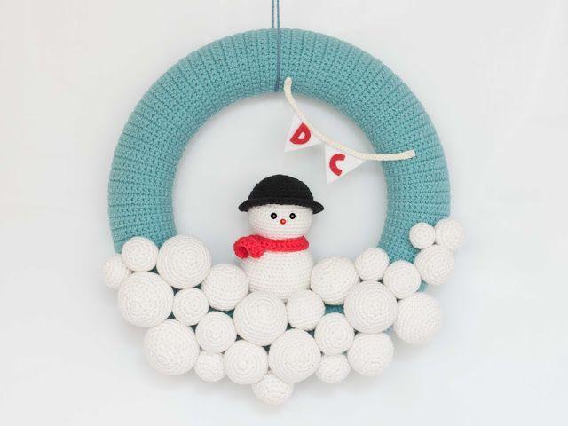 Corona de navidad en amigurumi - Patrones gratis