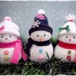 Muñeco de nieve con calcetines