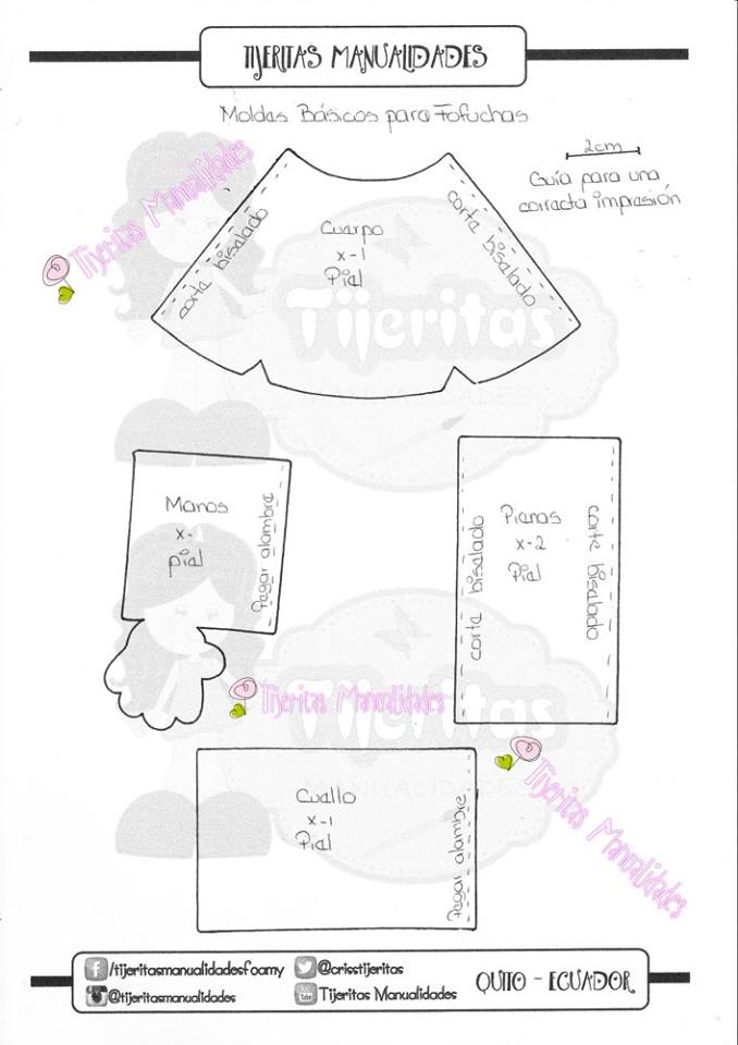 fofucha de novia sencilla - patrones gratis
