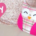 Almohada o cojin de tela en forma de búho paso a paso