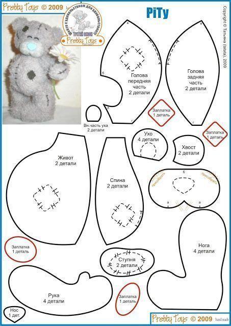 patrones osos de peluche 12