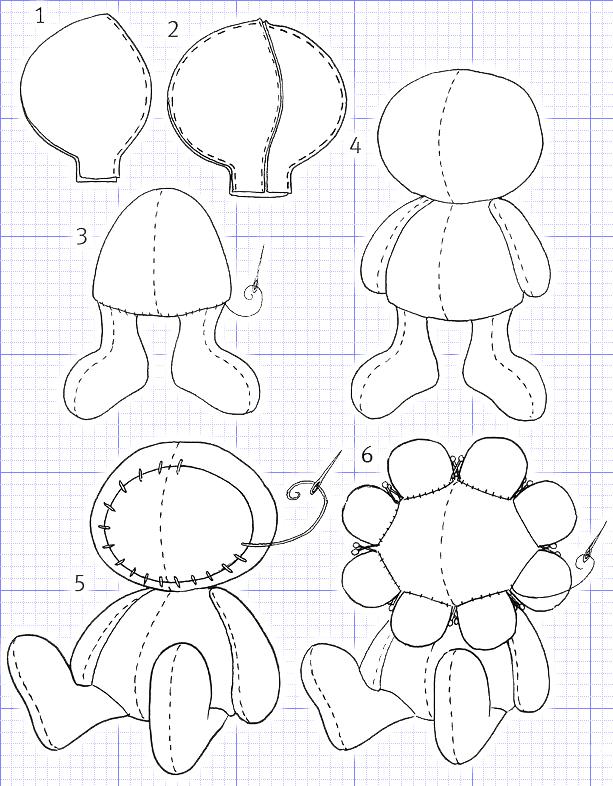 Muñecas tilda, Abeja y Flor patrones