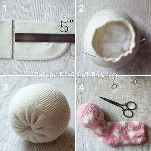 ovejas con calcetin paso 2
