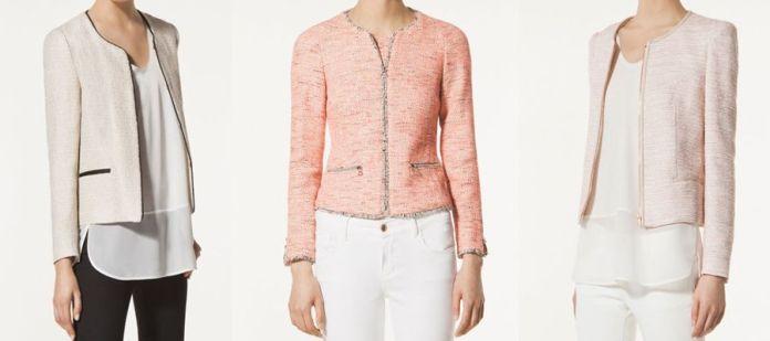chaqueta estilo chanel con patrones