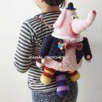 Patrón y tutorial para hacer una mochila infantil elefante