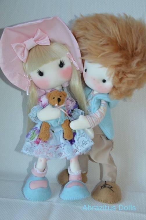 muñecos enamorados