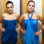 Vestido multiusos con un pañuelo grande