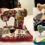 Patrón de alfileteros de maquinas de coser