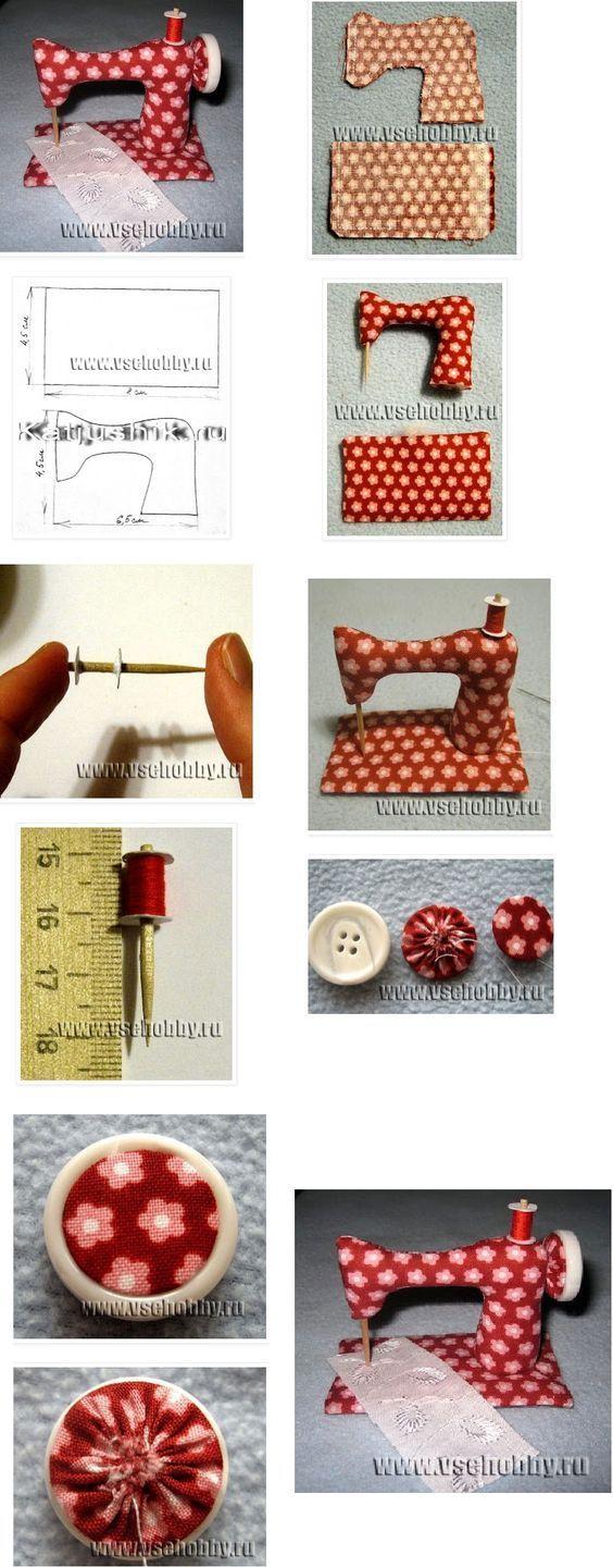 Patrón de alfileteros de maquinas de coser - Patrones gratis