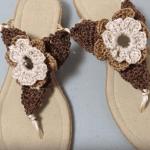 Sandalias a crochet para mujer