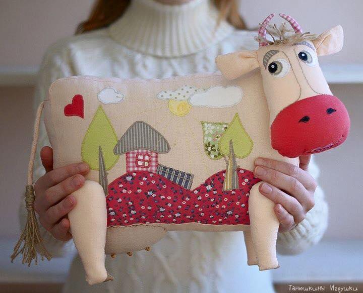 Patrón de Cojín de vaca - Patrones gratis