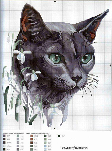 Gatos en punto de cruz (5)