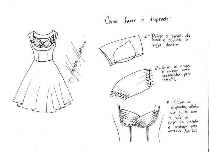 Vestido vintage con patrones (1)