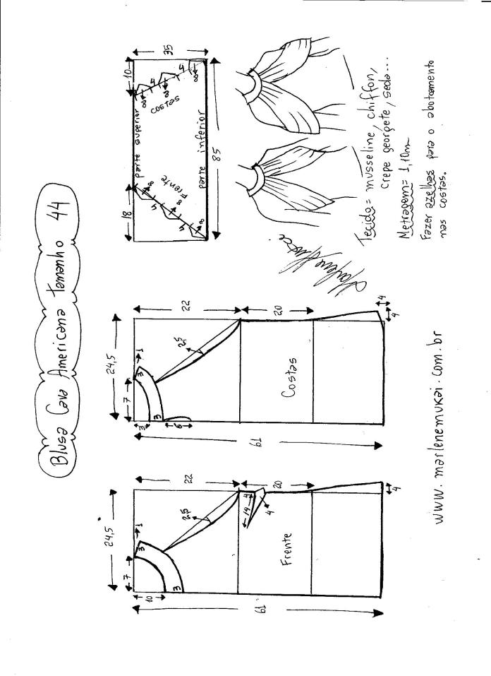 blusa de sisa americana con drapeado -44