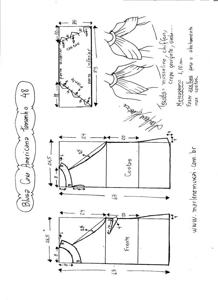 blusa de sisa americana con drapeado -48