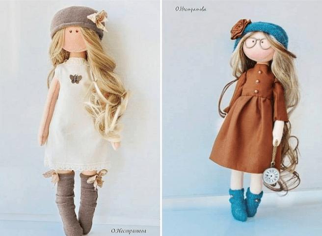 Muñecas de tela con patrones - Patrones gratis
