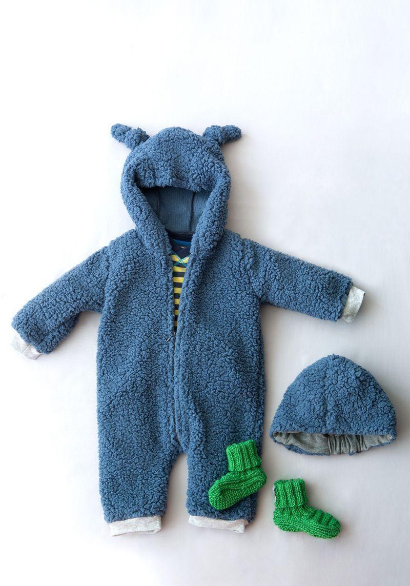 Patrón de enterizo de oso para bebés - Patrones gratis
