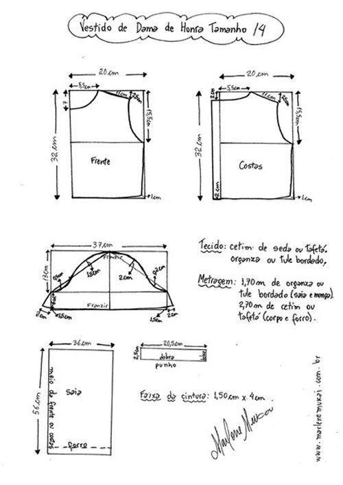 Como hacer patron de vestido manga larga