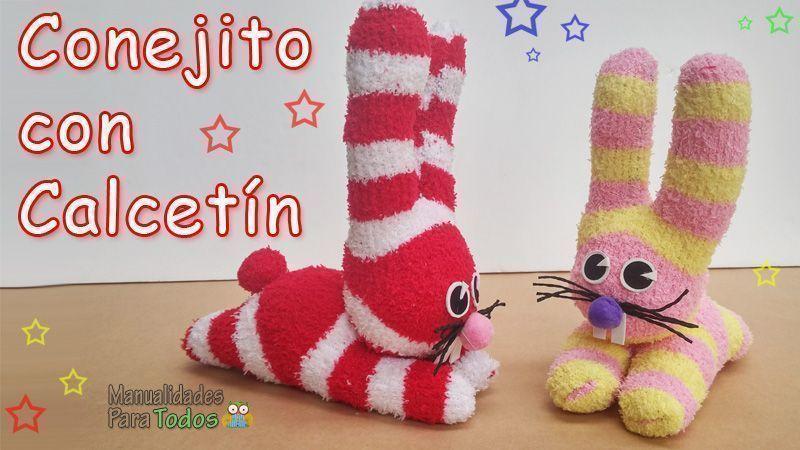 Como hacer un conejito con calcetines