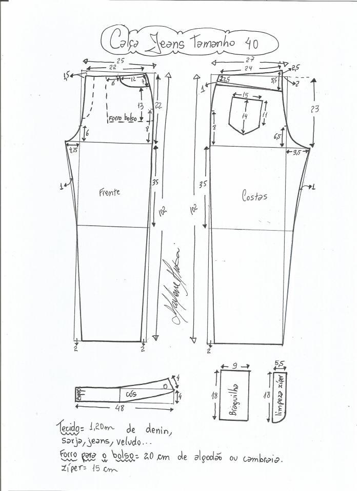 jeans - cintura media-40