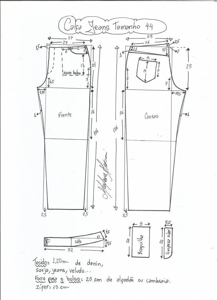 jeans - cintura media-44