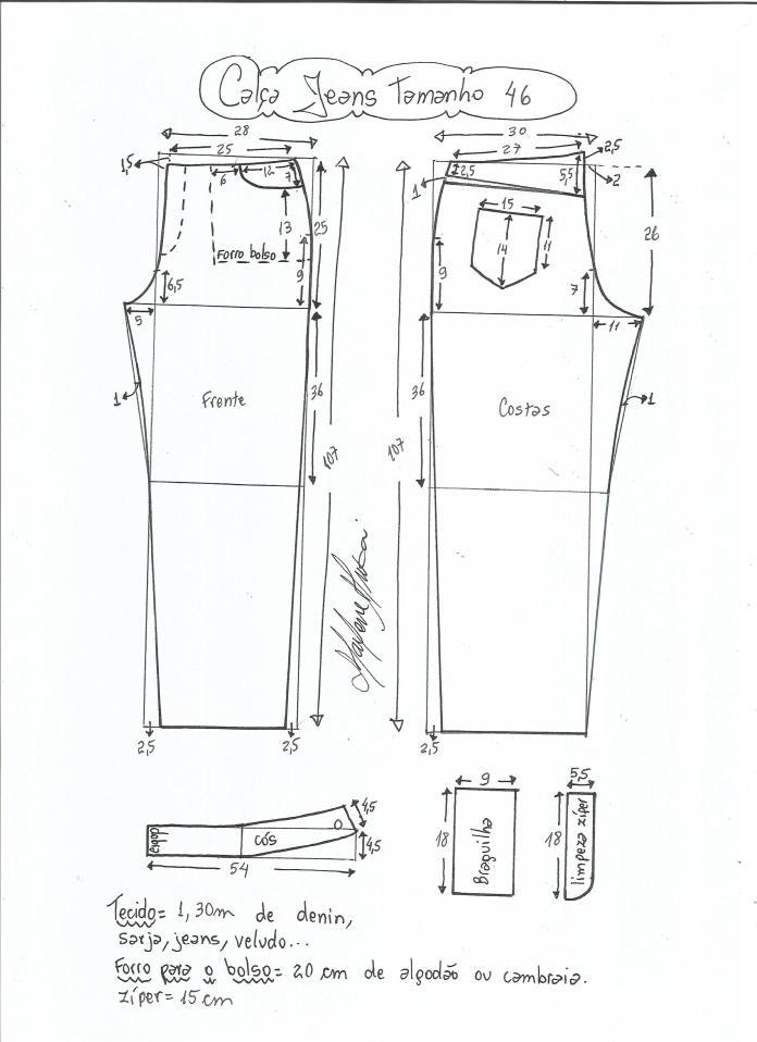 jeans - cintura media-46