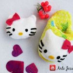 Pantuflas hello kitty con tutorial y patrones