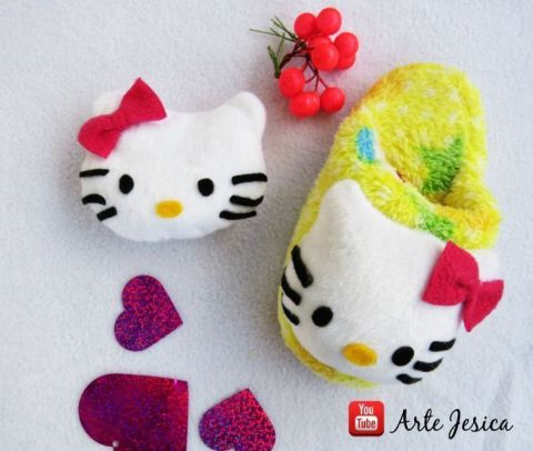 pantunflas hello kitty