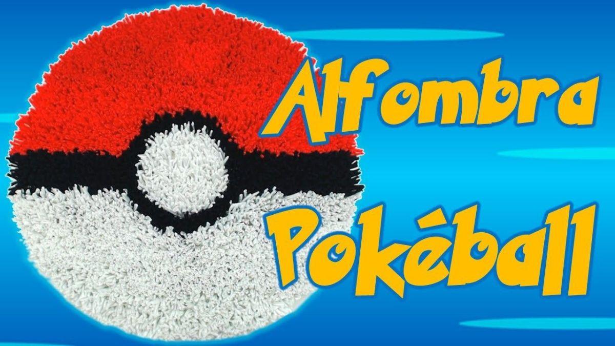 Alfombra Pokémon Pokéball con trapillo