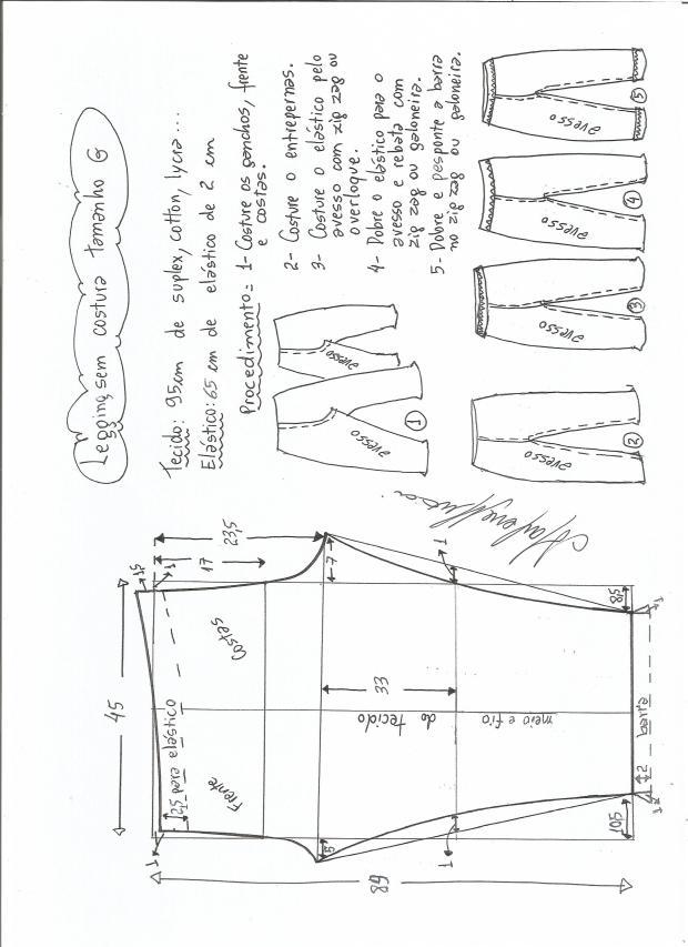 legging sin costural-L