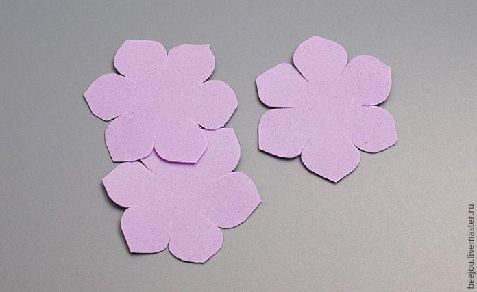 6bd73bec69b Ramo de flores para novia en goma eva - Patrones gratis