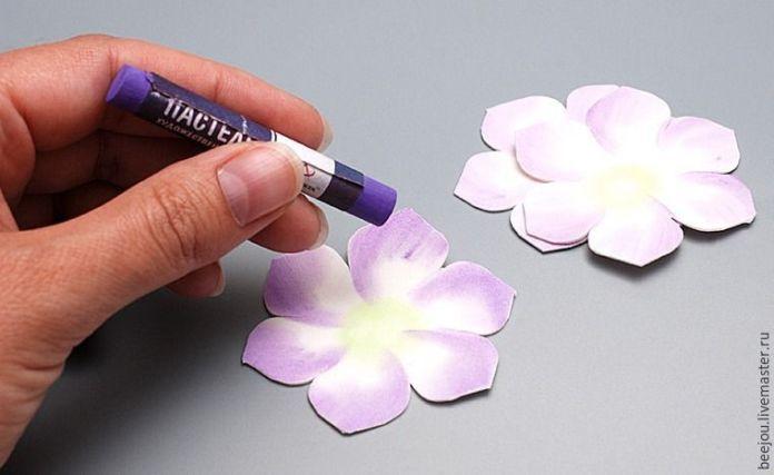 Ramo de flores para novia en goma eva - Patrones gratis